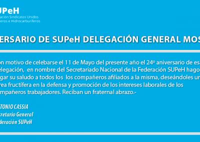 Aniversario Delegación General Mosconi